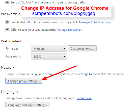 Change My IP With A Proxy Server