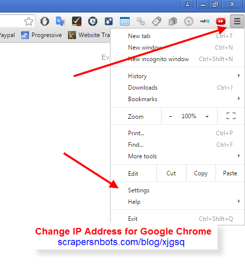 Easy Way to Change IP Address ┉ Chrome Browser | Scrapers