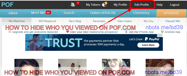 How to tell when someone was last online pof