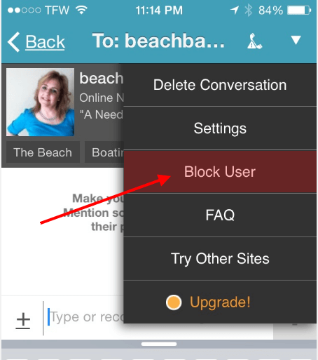 How to block user on pof