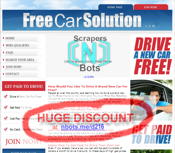discount to join free car solution get paid to drive inexpensive 10 off coupon scrapers n. Black Bedroom Furniture Sets. Home Design Ideas
