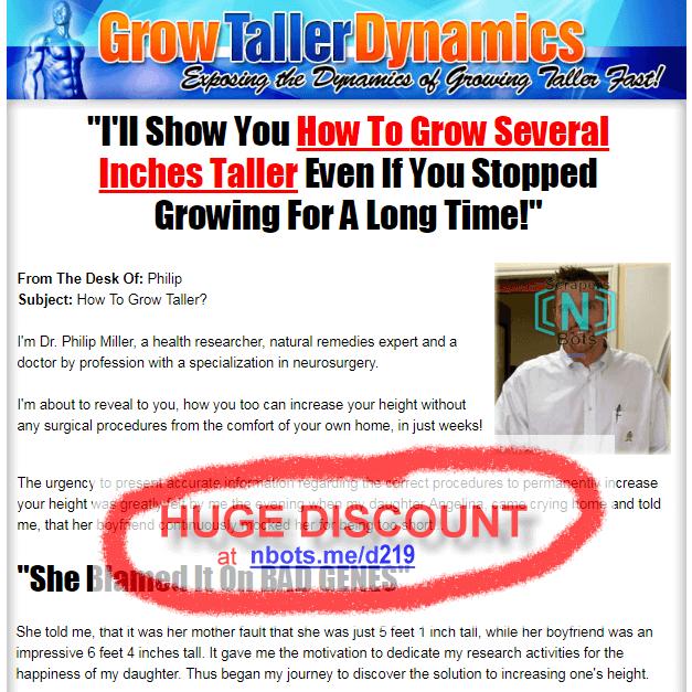 Grow Taller Dynamics Discount Coupon - Discounts Clickbank