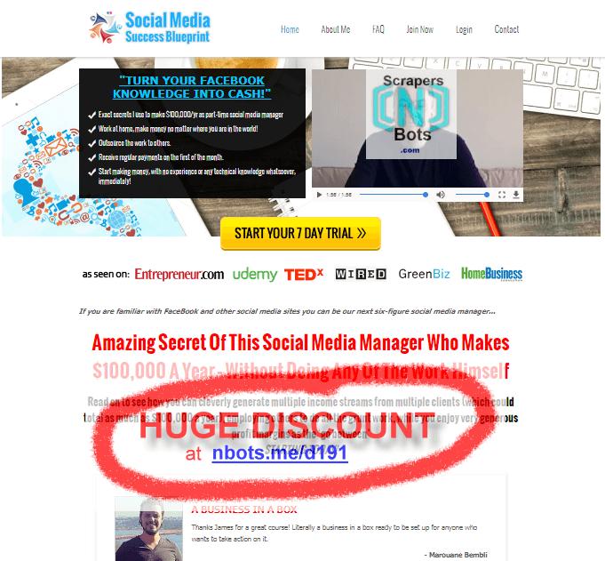 Buy social media success blueprint discounted no monthy payments social media success blueprint james burchill website malvernweather Gallery