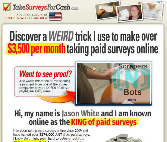 web surveys for money scrapers n bots software surveys for cash 27 download 1998