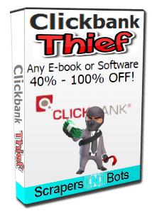 Clickbank Thief software box.