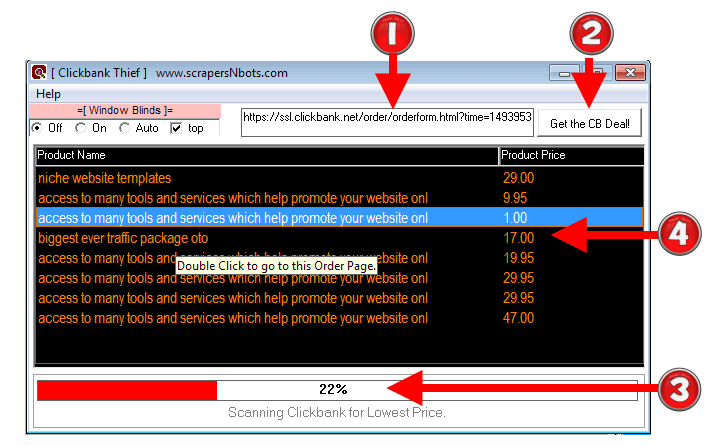 Image of Clickbank Thief Software.