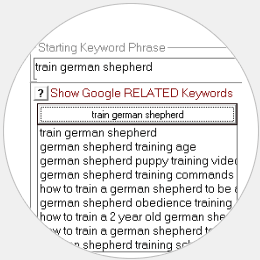 Image of Built in Google Related Keywords Provides Ideas for Other Root Keyword Phrases.