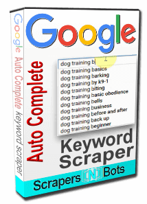 Google AutoComplete Keyword Scraper software box.
