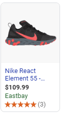 Example of an ad for specific product generated by long tail keyword phrase search.