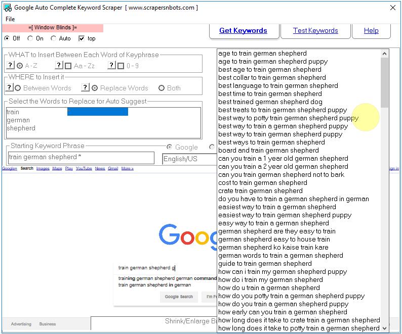 Google Auto Complete Keyword Scraper〙🔑 ⇔ Scrapers〘N〙Bots