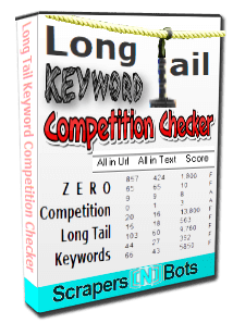 Long Tail Keyword Competition Checker software box.