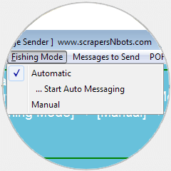 Image of POF Bot 'Automatic' and 'Manual' mode of message sending.