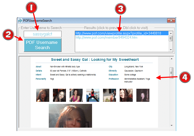 Image of POF Username Search Software.