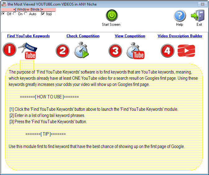 Image of Viral Youtube Soft Start Screen - Find Youtube Keywords Instructions (module #1).