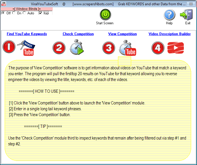 Image of Viral Youtube Soft Start Screen - View Youtube Competition Instructions (module #3).