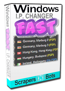 Windows Fast IP Changer software box.