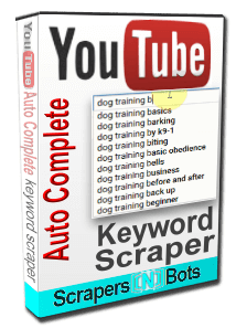 YouTube AutoComplete Keyword Scraper software box.