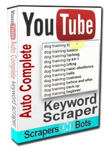 YouTube AutoComplete Keyword Scraper〙 ⇔ Scrapers〘N〙Bots