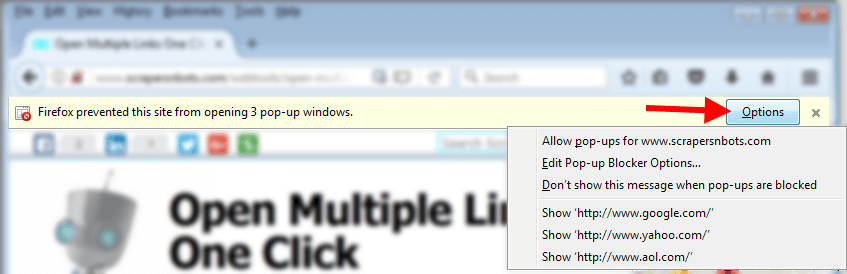 Open Multiple Links ☷ One Click | Scrapers〘N〙Bots Web Tools